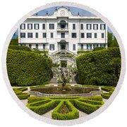 Lake Como,villa Carlotta, Italy Round Beach Towel