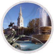 London - Trafalgar Square  Round Beach Towel