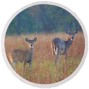Made For Each Other  Round Beach Towel