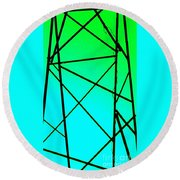 Metal Frame Abstract Round Beach Towel