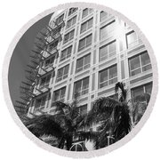 Miami House Round Beach Towel