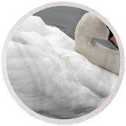 Mute Swan Round Beach Towel