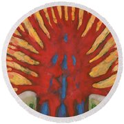 Outside Round Beach Towel