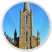 Pointed Church Round Beach Towel