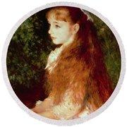 Portrait Of Mademoiselle Irene Cahen D'anvers Round Beach Towel