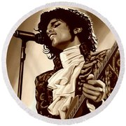 Prince The Artist Round Beach Towel