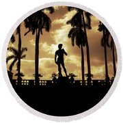 Replica Of The Michelangelo Statue At Ringling Museum Sarasota Florida Round Beach Towel
