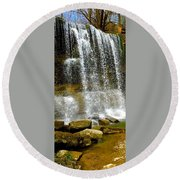Rock Glen Falls Iphone 6s Round Beach Towel