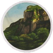 Rocks At Mouthier Round Beach Towel