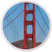 San Fransisco Bay Bridge Round Beach Towel