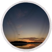 Sunset At The Gulf Of Bothnia 3 Round Beach Towel
