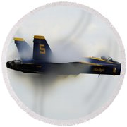 The Blue Angels Performs A Sneak Pass Round Beach Towel