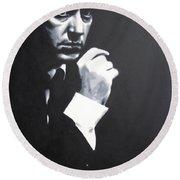- The Godfather - Round Beach Towel by Luis Ludzska