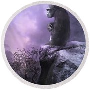 The Night Watch Round Beach Towel