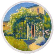 The Studio At Alet-les-bains Round Beach Towel