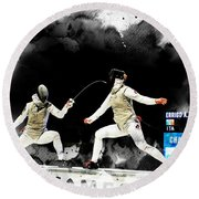 The World Cup Women's Foil  2  Round Beach Towel