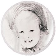 Trudy Round Beach Towel