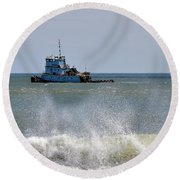 Tugboat Thomas D Witte Round Beach Towel