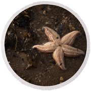 Vanishing Star Round Beach Towel