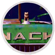 Wack Truck Round Beach Towel