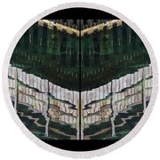 Water Reflection Twofold Round Beach Towel