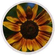Yellow Sun Flower Round Beach Towel