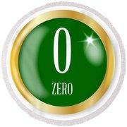 0 For Zero Round Beach Towel