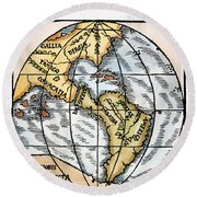 World Map, 1529 Round Beach Towel