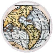 World Map, 1529 Round Beach Towel