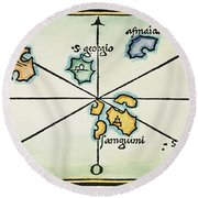 Azores, 1528 Round Beach Towel