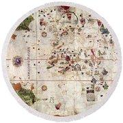 Nina: World Map, 1500 Round Beach Towel