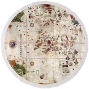 Nina: World Map, 1500 Round Beach Towel