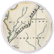 Natchez Trace, 1816 Round Beach Towel
