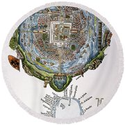 Tenochtitlan (mexico City) Round Beach Towel