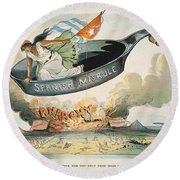 Spanish-american War, 1898 Round Beach Towel