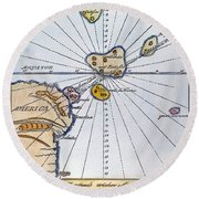 Traces Of Atlantis Round Beach Towel