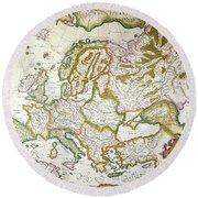 Map Of Europe, 1623 Round Beach Towel