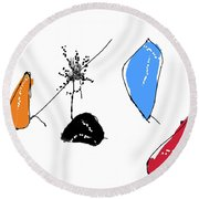 001002aa Round Beach Towel