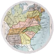 United States Map, C1791 Round Beach Towel