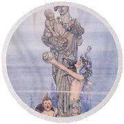Andersen: Little Mermaid Round Beach Towel