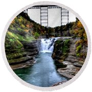 0032 Letchworth State Park Series  Round Beach Towel