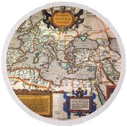Map Of The Roman Empire Round Beach Towel