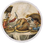 Napoleon Cartoon, 1805 Round Beach Towel