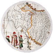 Mesopotamia, 1662 Round Beach Towel