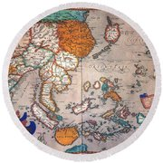 Pacific Ocean/asia, 1595 Round Beach Towel