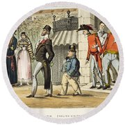 Paris Occupation, 1814 Round Beach Towel
