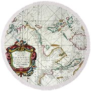 East Indies Map, 1670 Round Beach Towel
