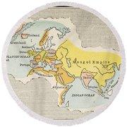World Map, C1300 Round Beach Towel