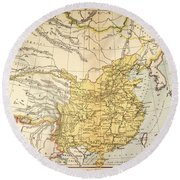 Map: China, 1910 Round Beach Towel