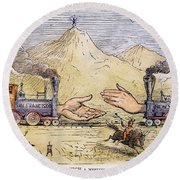 Promontory Point, 1869 Round Beach Towel